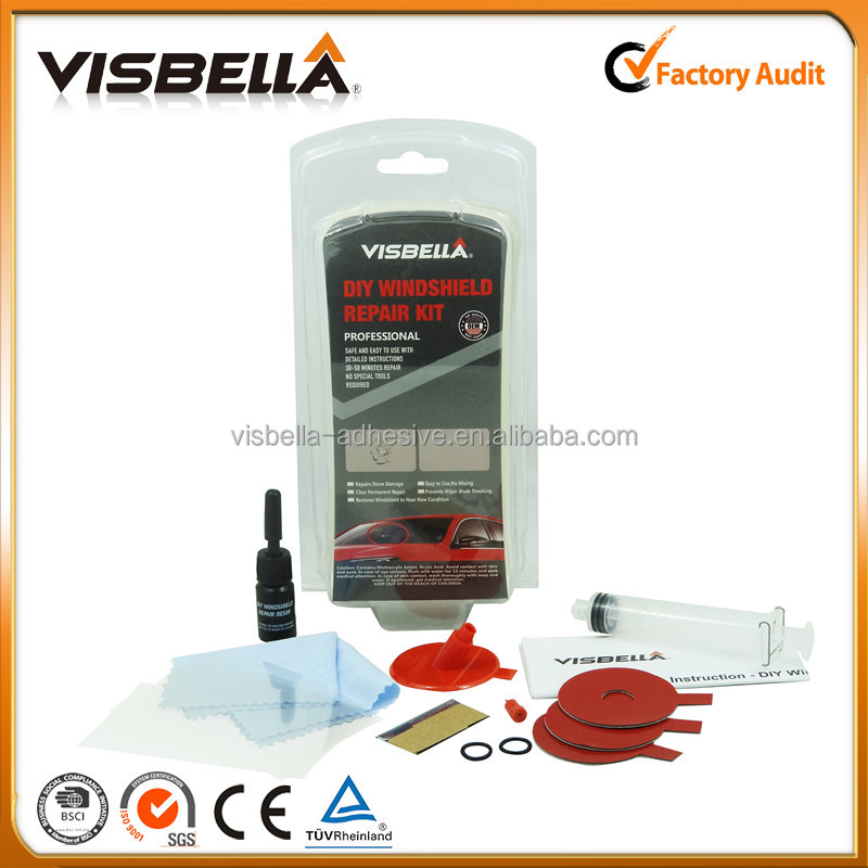 Windscreen Polishing DIY Repair Kit Car Glass Repair for Removing Wiper Blade Damage, Surface Marks, Water Stain