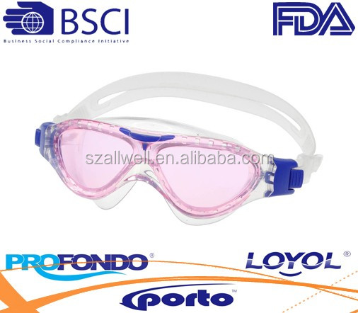 kids liquid silicone swimming goggle with quickadjust system