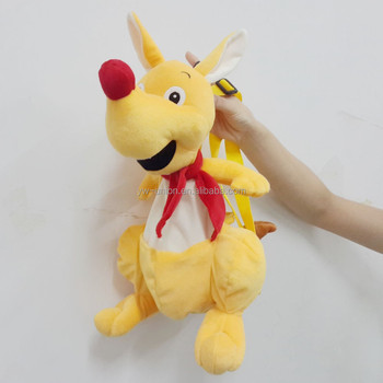 ODM OEM custom design plush kangaroo animal bag / baby plush animal backbag