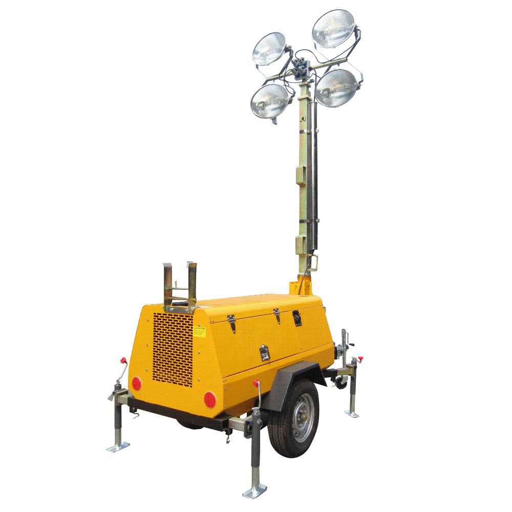 Industrial solar powered light tower