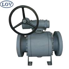 LOV 3PC Split Body Forged Steel A105 Soft Seat PTFE Pneumatic Trunnion Mounted Ball Valve
