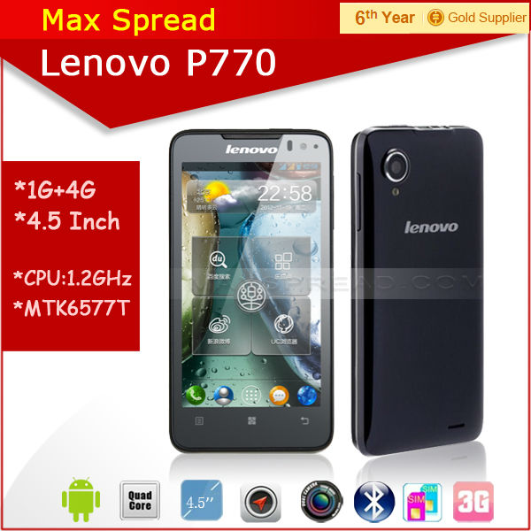 Hot selling lenovo p770 dual sim android 4.1 lenovo brand android phone