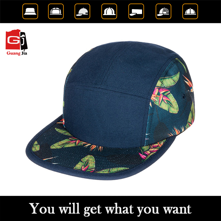 Custom high quality 5 panel snapback cap with digital print of wholesale hat suppliers