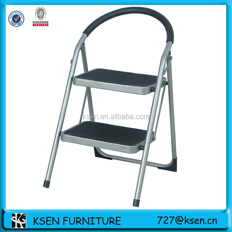 2-tier cheap step ladder with handrail