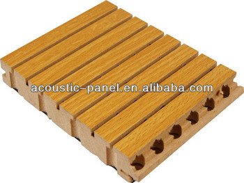 13-3 type grooved wooden acoustic panel sound absorbing board