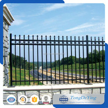 Customized residental new house baluster design terrace wrought iron fence for sale steel fence