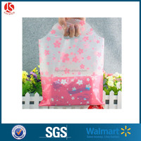 Strong Clear Die-cut Patch Handle Carrier / Gift / / Fashion / Jewellery Shopping Plastic Bags