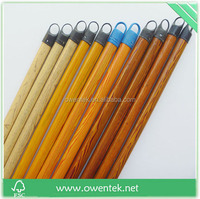 PVC coated wooden broom handle with thread Wooden broom stick in Brush wooden garden tools