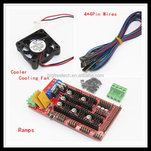 made in china RAMPS 1.4 Shield For Mega2560 +1Pcs Cooler Cooling Fan + 4*4 Pin Cables / Wires for Reprap Prusa Mendel Makerbot
