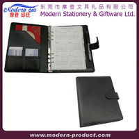 leather cover office diary & hardcover magnetic notebook