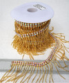 Crystal AB color gold chain dress trim costume crystal rhinestone trim