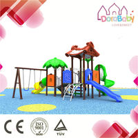 Hot sale Flowers Roof Match Transparent Tube Slide, School kids outdoor playground equipment