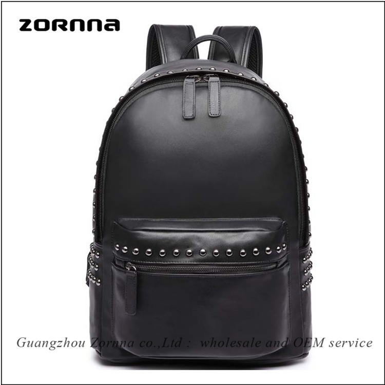 Durable pu leather college boy japan 2014 school backpack for laptop