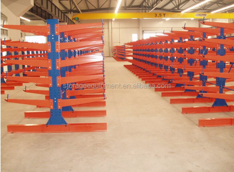 double side warehouse racks adjustable heavy duty cantilever racking