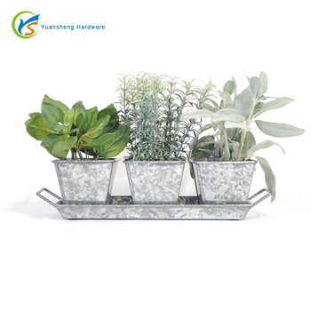 Galvanized Garden Planter Herb Kit