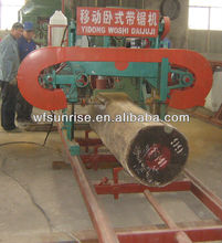 portable horizontal band timber cutting saw mill (diesel/electrical)