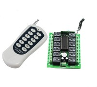 12 channel Keyfob Wireless Remote Control & Receiver Switch DIY KIT DC12V yet412-yet112D