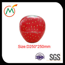 Wholesales Customiczed Large Apple Shape Storage Jar/Tin Boxes for packaging Food/Gift/Candies/cookies