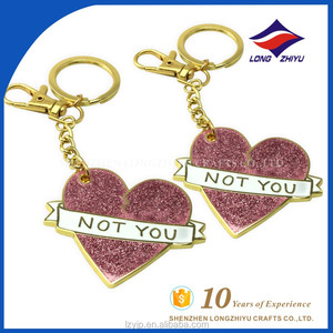 Personalized Engraved Human Couple Heart Shape Keychain