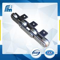 C232A-H/C2160H big cranked attachment roller chain,double pitch diamond roller chain