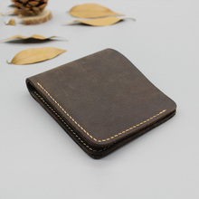 W9219 100% Natural Leather Men Wallet Handmade