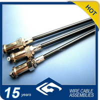 three-in-one brake cable with metal fittings