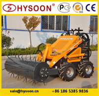 Auger attachment lawn tractors with front end loader