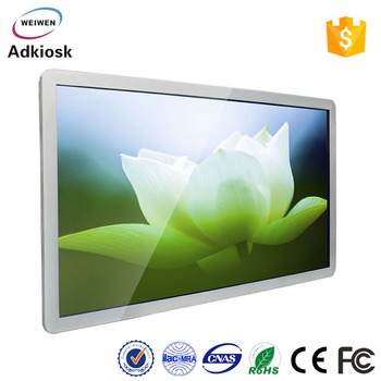 Wireless device 66 inch indoor touch screen wall mounted digital signage for department store