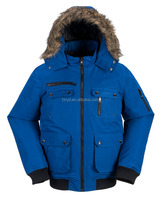 Outdoor Winter Bomber Workwear Fur hooded Jacket