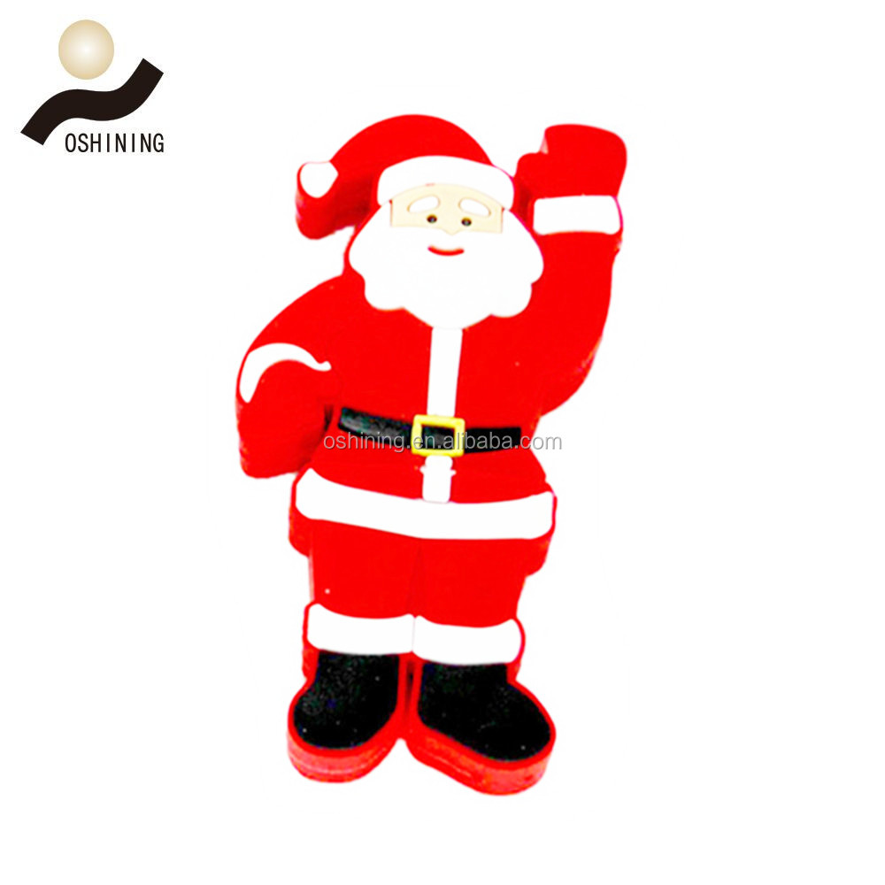 Santa Claus shape PVC USB 2.0 Flash Drive 2GB 4GB 8GB 16GB 32GB Pen Drive USB Memory Stick for Christmas gifts