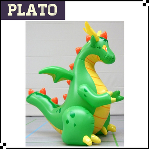 advertising product of green inflatable dragon, inflatable dragon toy