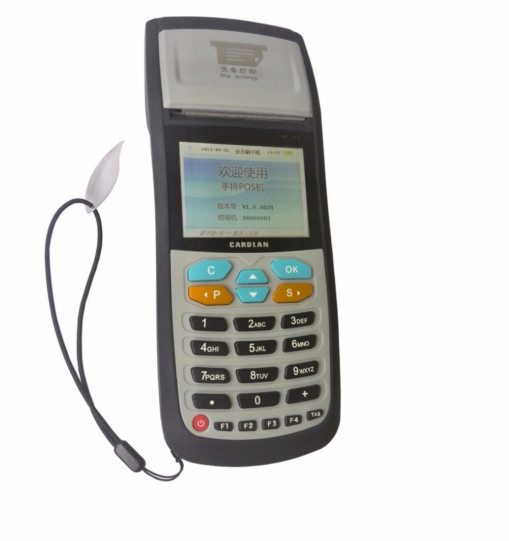 Portable Parking Charges POS Machine Cashless Payment Solution Support IC Card Mifare Card And Smart Cards