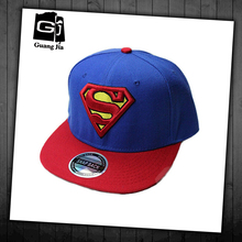 Worth buying promotional custom embroidery cool logo acrylic topi superman cap