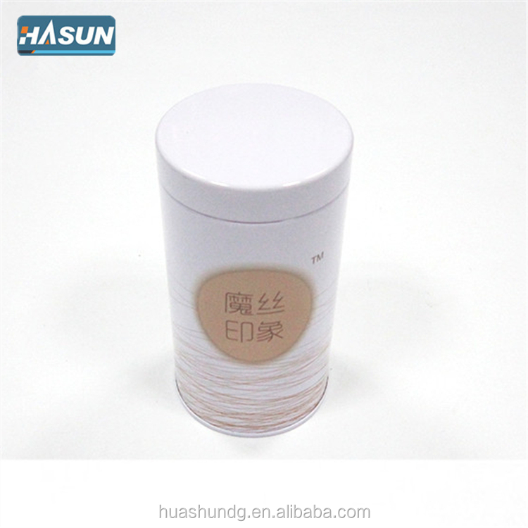 Custom printed round tin can for storage food and packaging