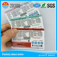Serial Number CYMK printing scratch paper card