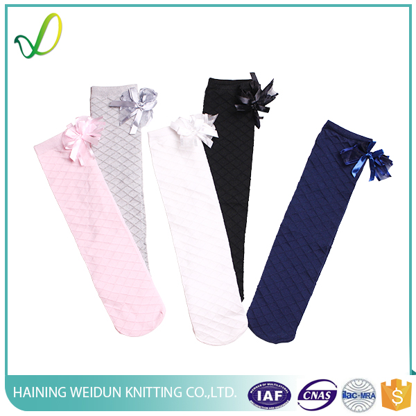 Cotton Girl Tube Sock with Small bow