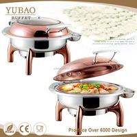 Yubao Buffet Equipment 6L Round Rose