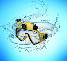 diving glasses cameras underwater 30M Waterproof HD 720P sports Digital PC Camera Video Diving Scuba Mask Play on TV DV-20