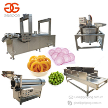 Continuous Conveyor Gas Type Samosa Chin Chin French Fries Groundnut Peanut Frying Machine Industrial Deep Fryer