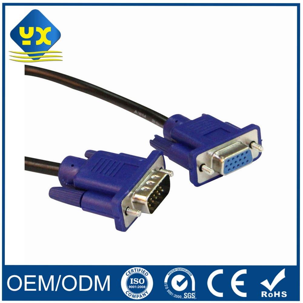 HDTV 1080P VGA 15P Male to VGA Female Extension Cable VGA 15pin Converter for TV Video AV Computer
