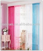 100% polyester fashionable indoor string curtain with beads