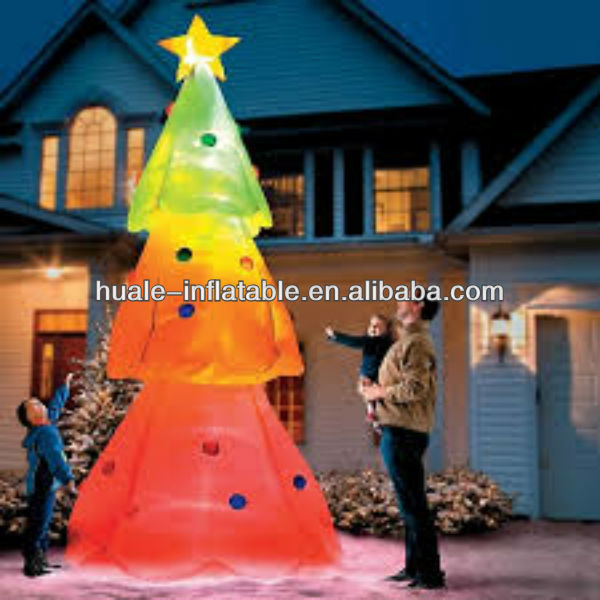 Beautiful inflatable wholesale christmas tree decoration/inflatable santa claus