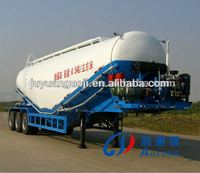 Durable W shape or V shape low density powder material transport tank vehicle (bulk cement tanker semi-trailer)