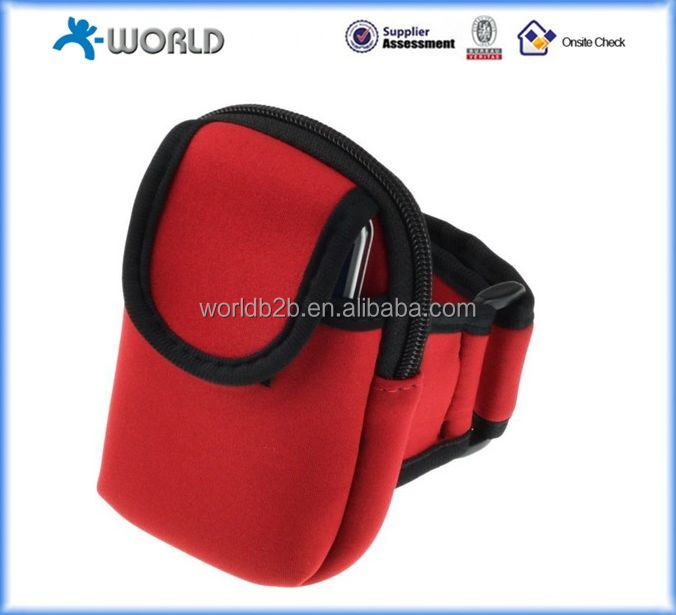 Zippered Double Pockets Sports Armband bag For SAMSUNG Galaxy S4 / S3 / iphone 6/5 / 5S / 5C / 4S / HTC