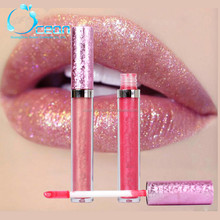 Private Label Iridescente Líquido Lipgloss, Topper Glitter lip gloss
