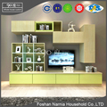Apple green high gloss modern design tv stand cabinet