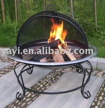 Outdoor stainless steel dome fire pit