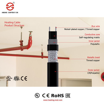 Water Used For Process Temperature Maintenance electric heating cable Heat Tape