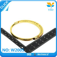 cheap flat zinc alloy o ring for Ladies satchel