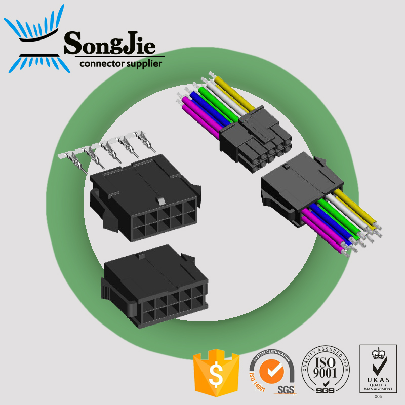 double rows atx/molex/jst power male female housing 3mm connector 2 4 6 8 10 12 14 16 18 20 22 24 pin/contact